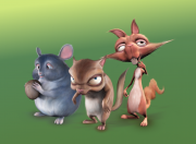 Three rodents
